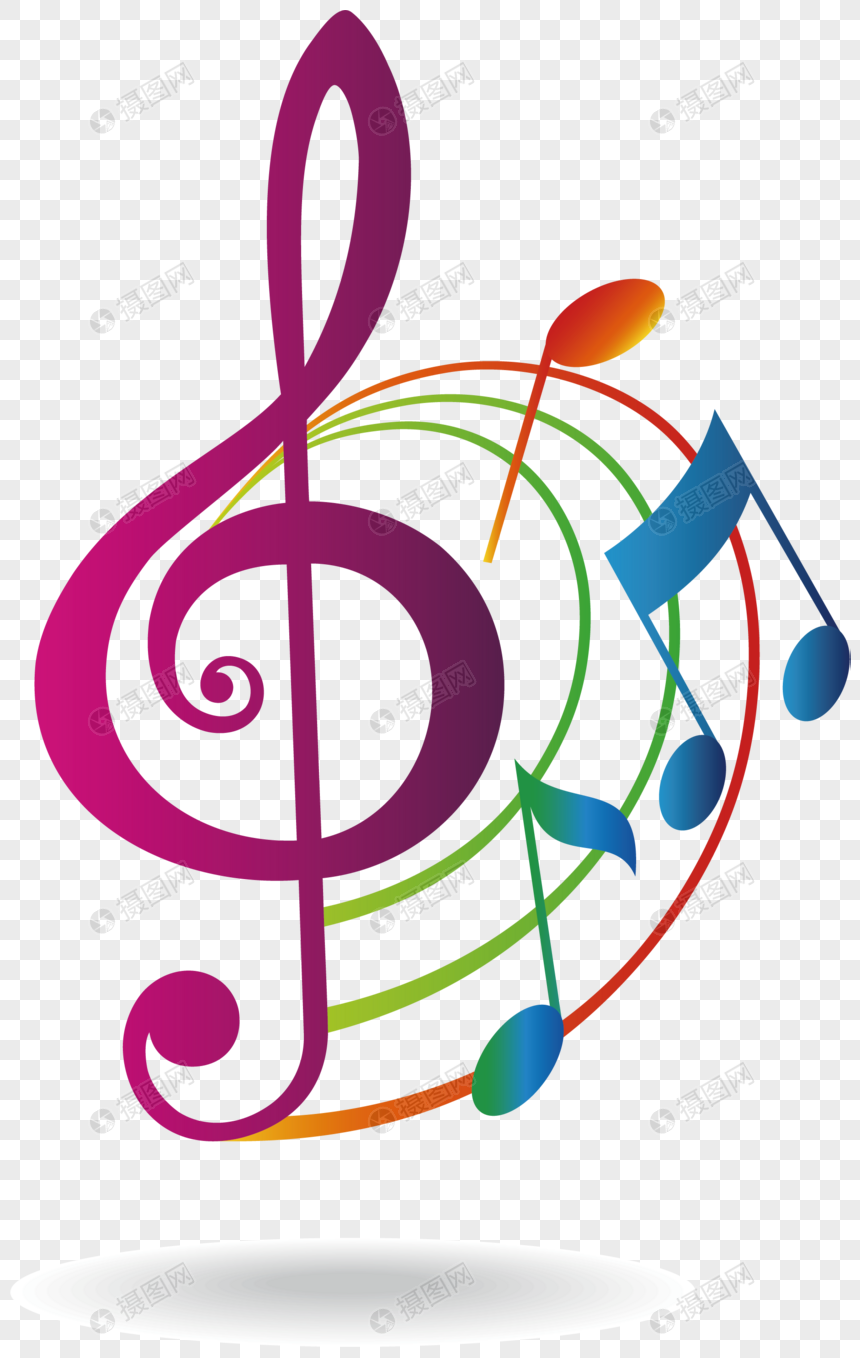 Color music icon design png image_picture free download
