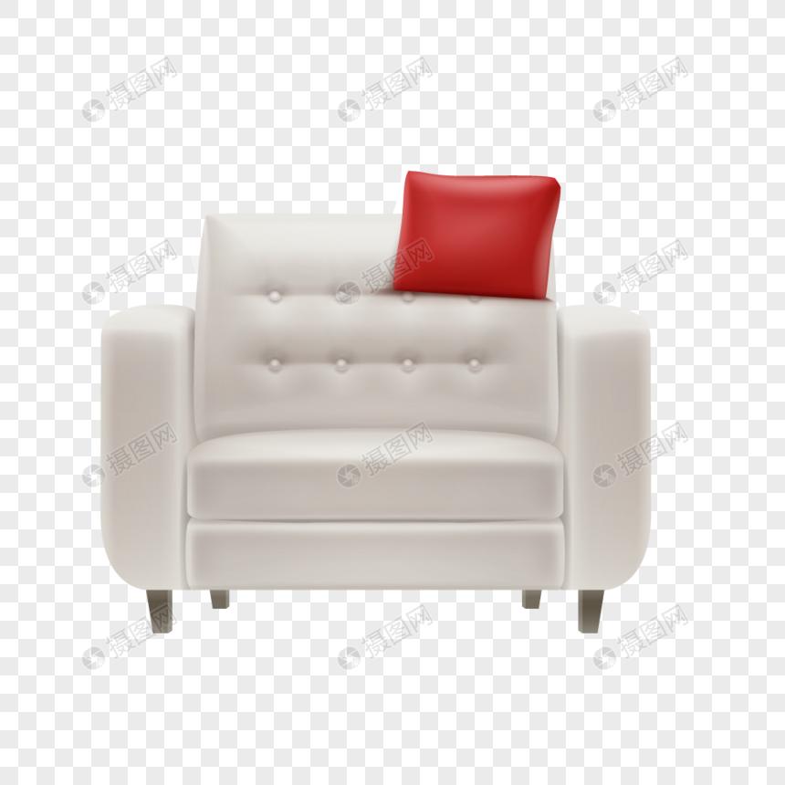 Hand Painted Cartoon Furniture Sofa Vector Material Png
