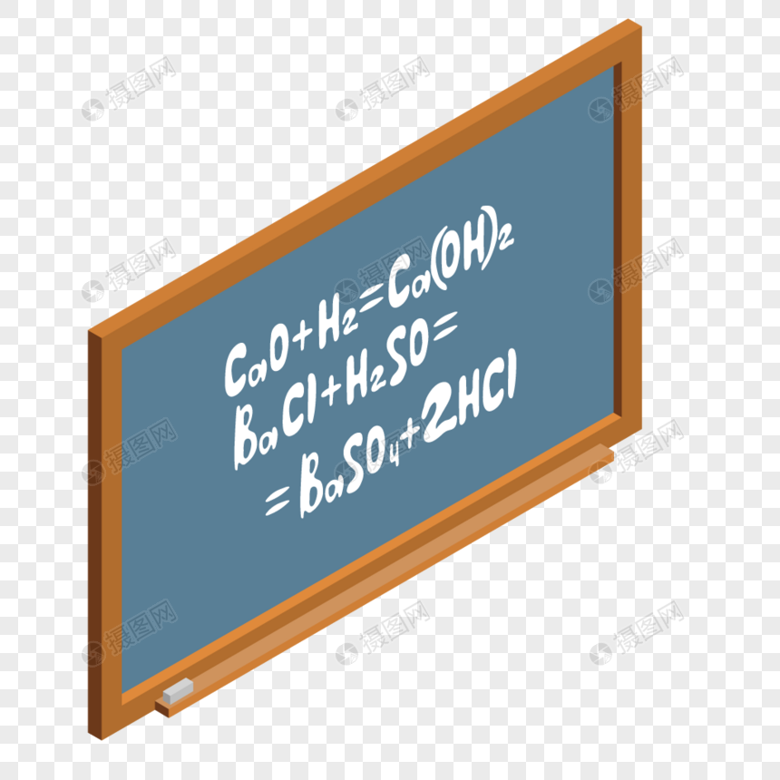 three dimensional cartoon blackboard design material png