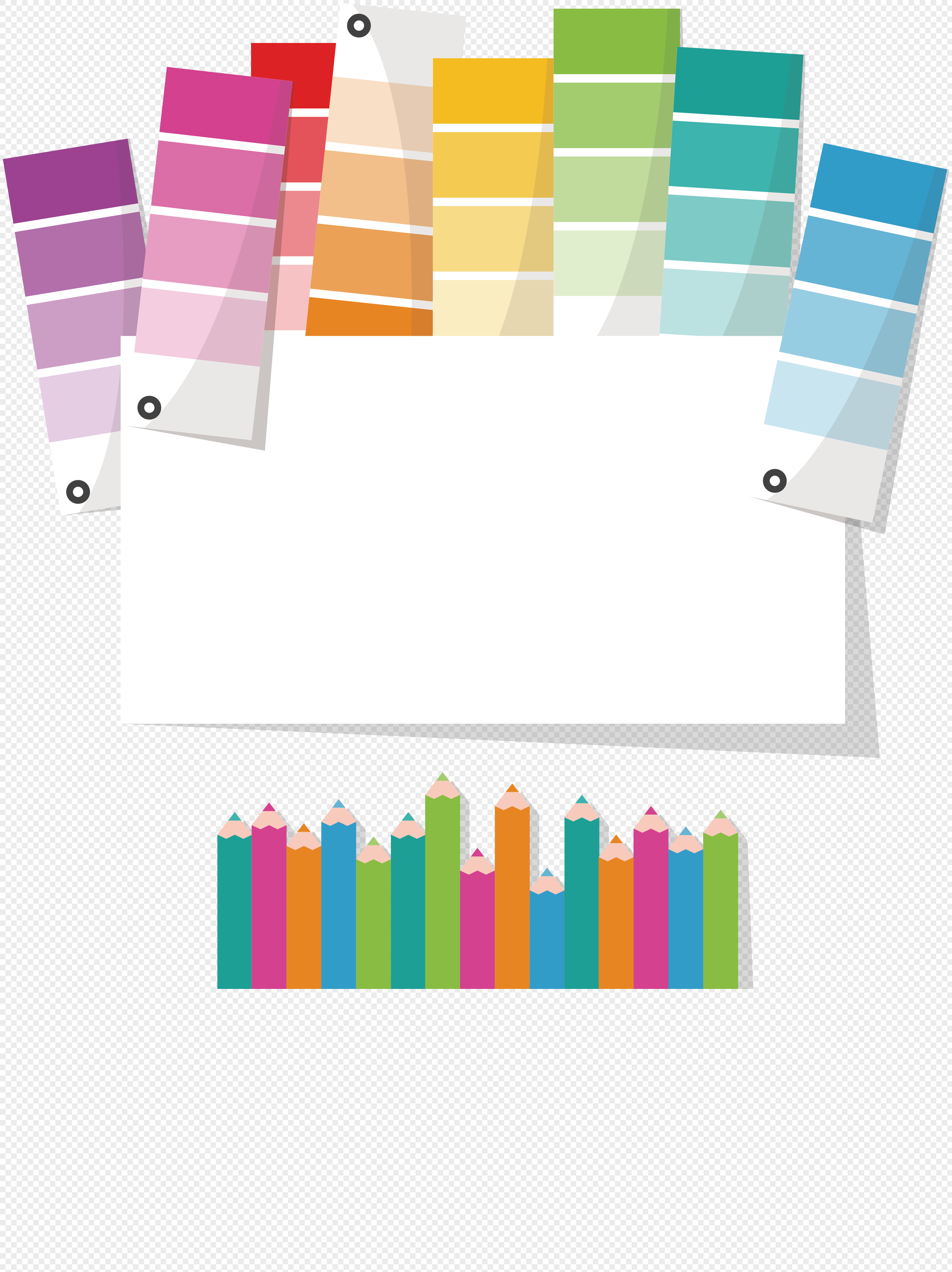 colorful seven color cards png image picture free download