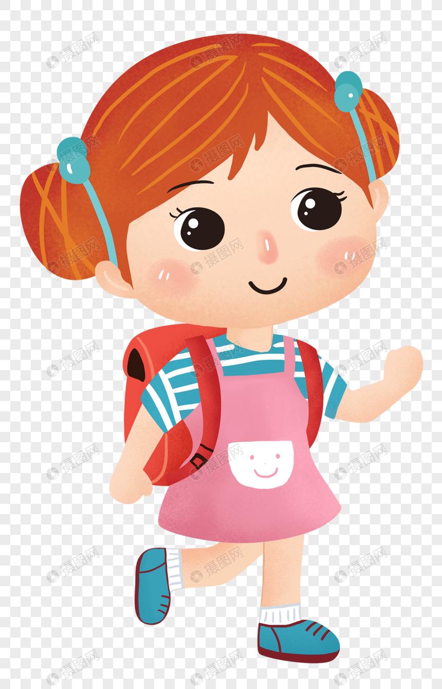 Niños De La Temporada Escolar De Dibujos Animados Imagen