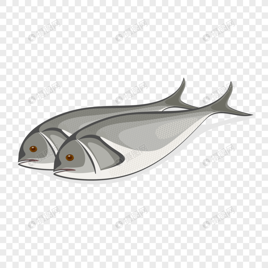 Dibujado A Mano Dibujos Animados Carne Pescado Ingredientes Elem
