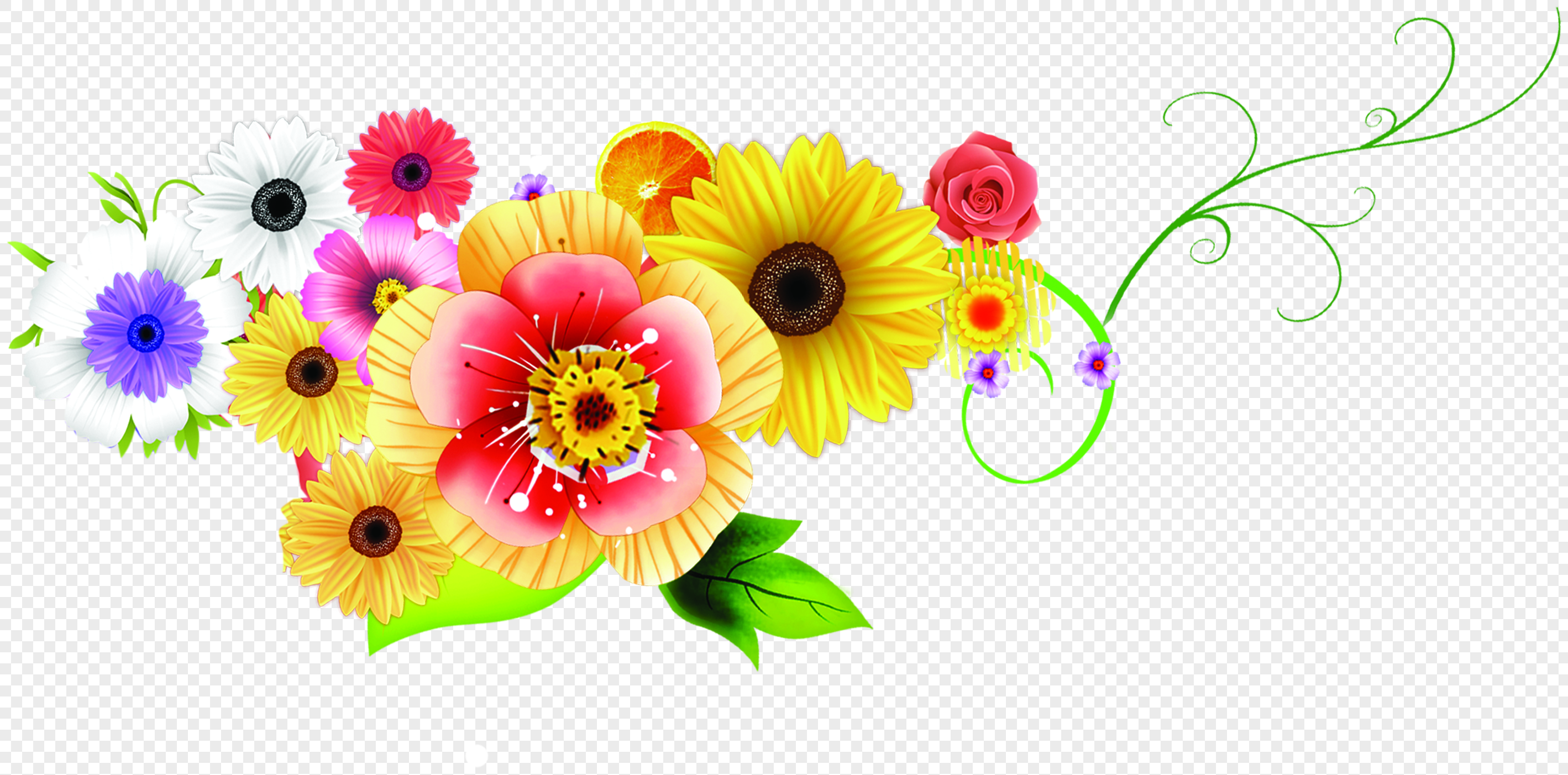 Beautiful Flower Pattern Border Png Imagepicture Free Download