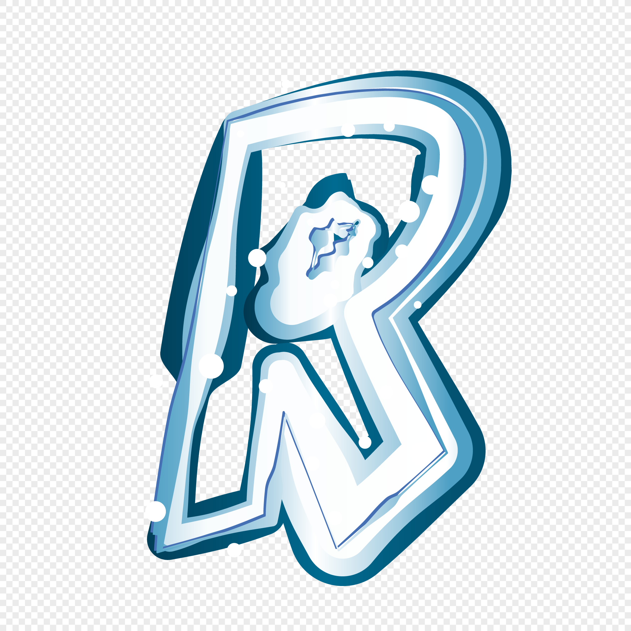 Creative Ice And Snow Letter R Vector Element Png Image Picture Free