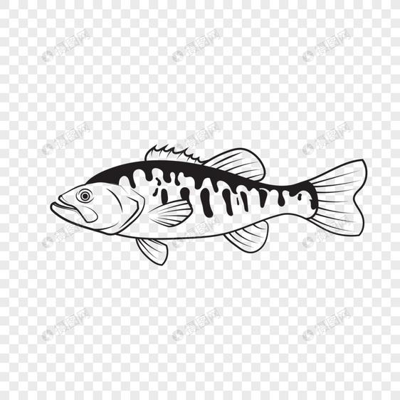 Gambar Garis Sketsa Dekoratif Ikan Menggambar Elemen Gambar Unduh