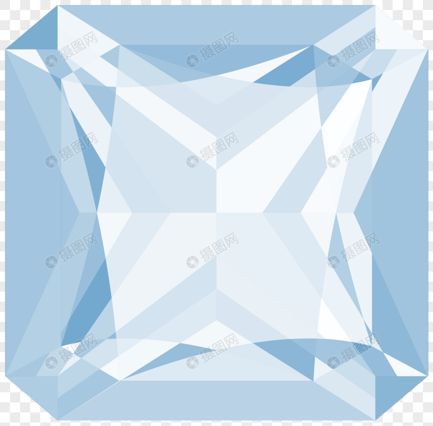 Geometrically transparent diamond material png image_picture