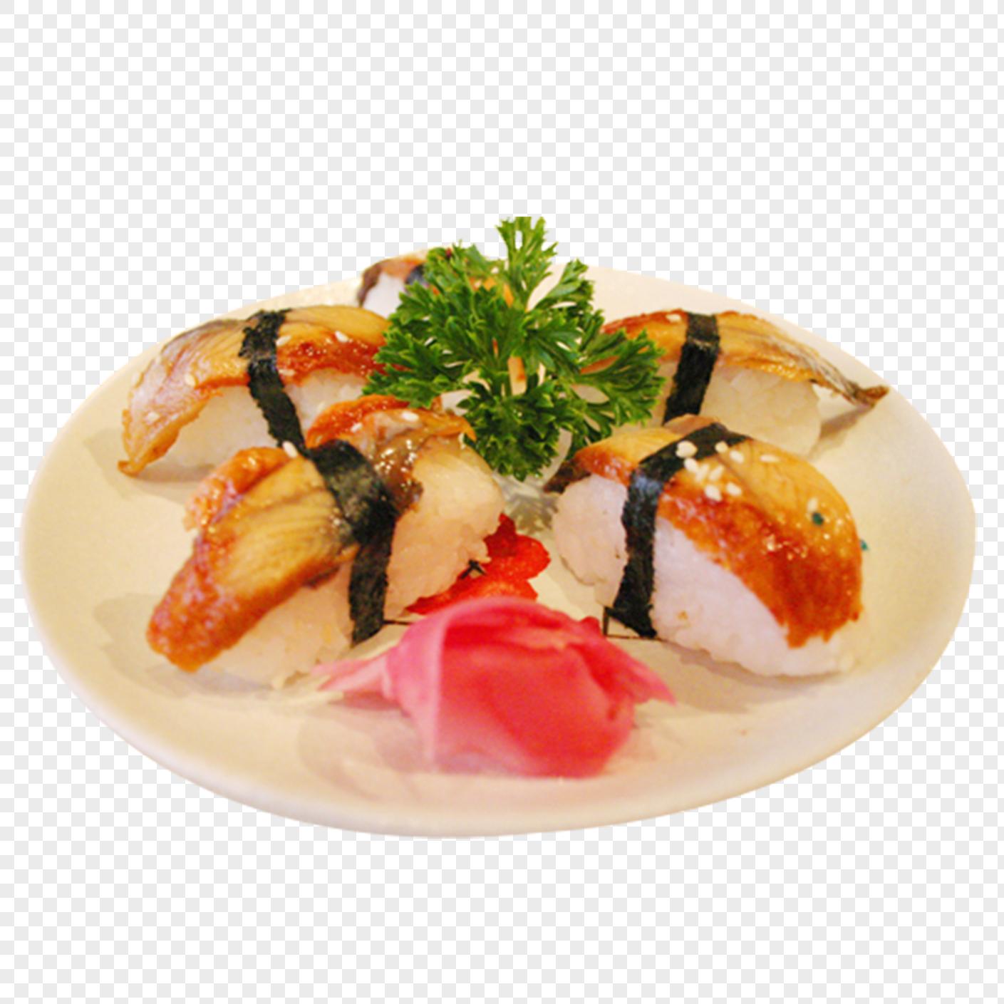 Pink Flower Eel Sushi Restaurant Food Png Imagepicture Free