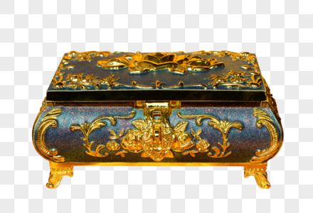The Gold Treasure Box Of Chinese Wind Photo