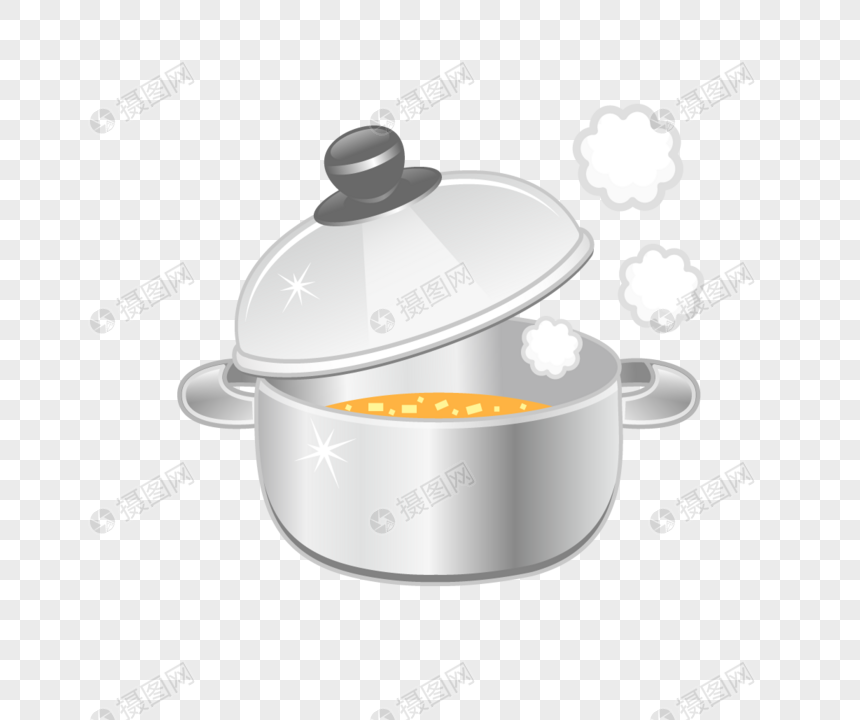 Vector Cartoon Kitchen Appliances Pots Material Png Image Picture