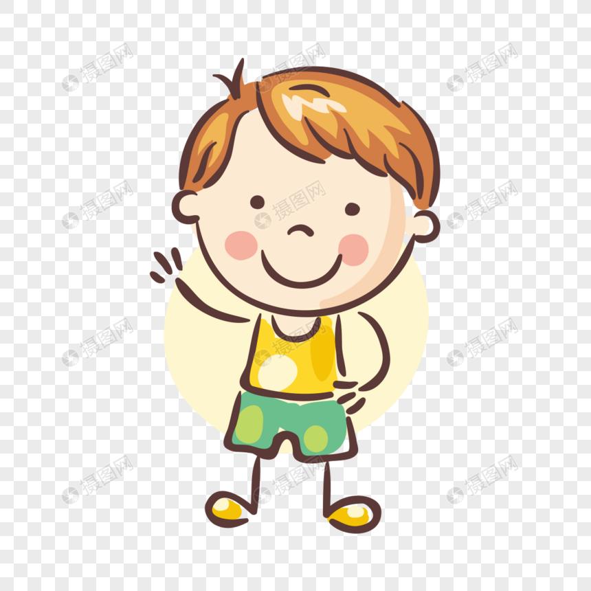 Dibujado A Mano Niños Lindos Dibujos Animados Imagen Descargarprf