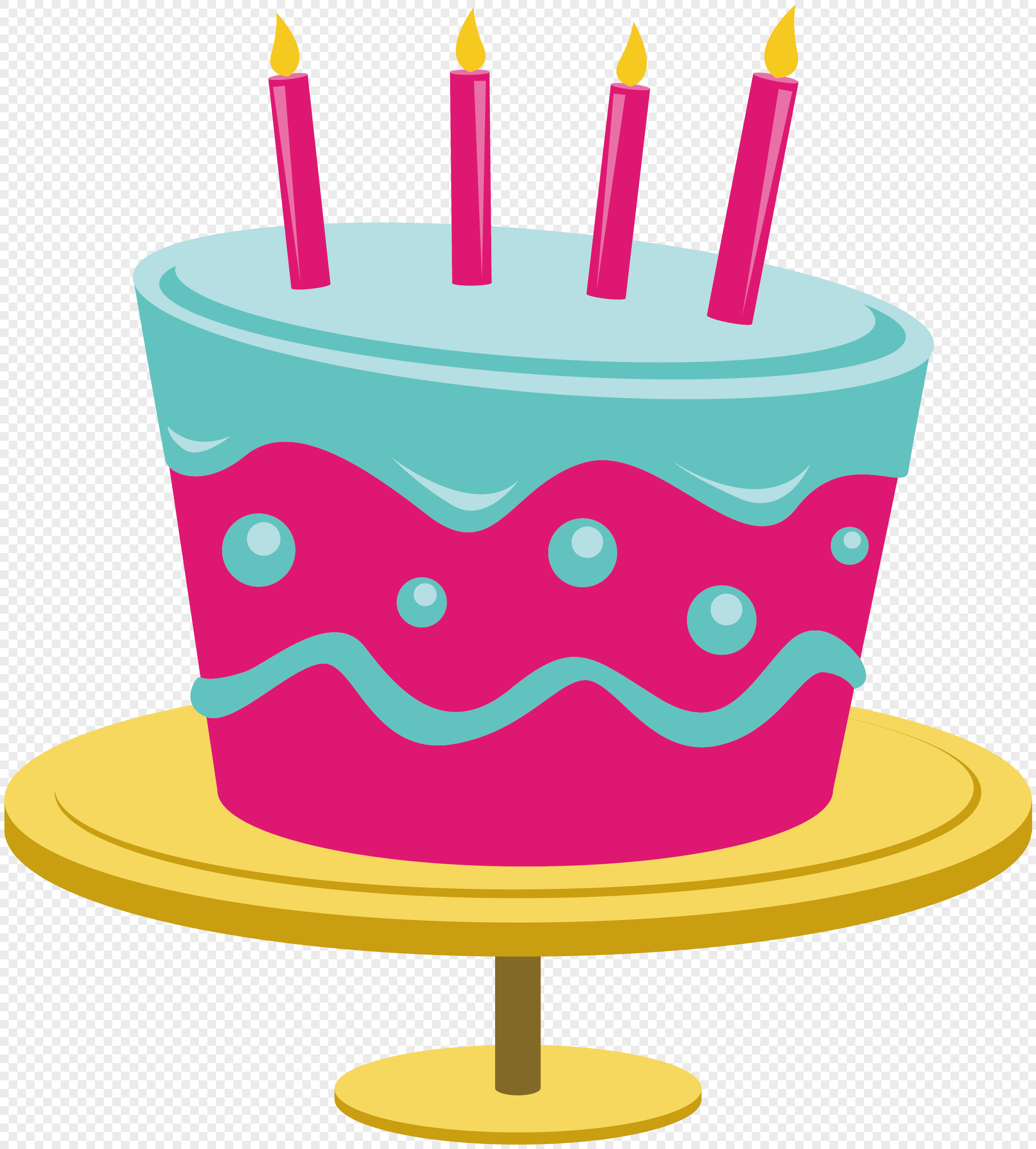 Cartoon Birthday Cake Vector Material Png Image_picture