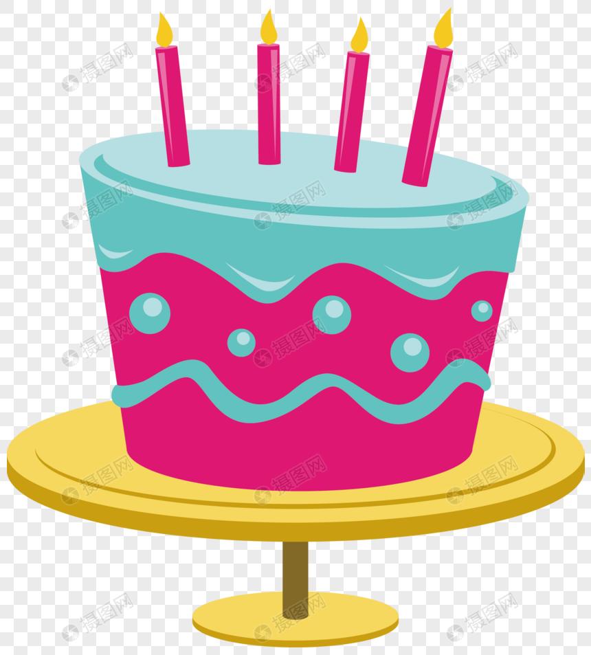 0244c05ee pastel de cumpleaños de dibujos animados vector material Imagen ...