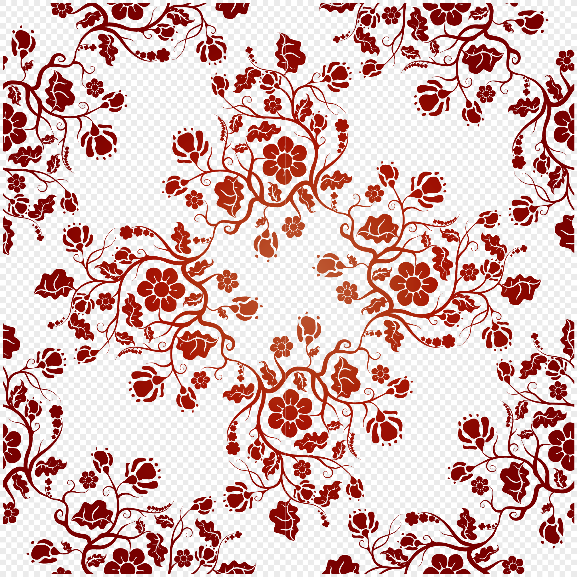 Floral Pattern Background Png