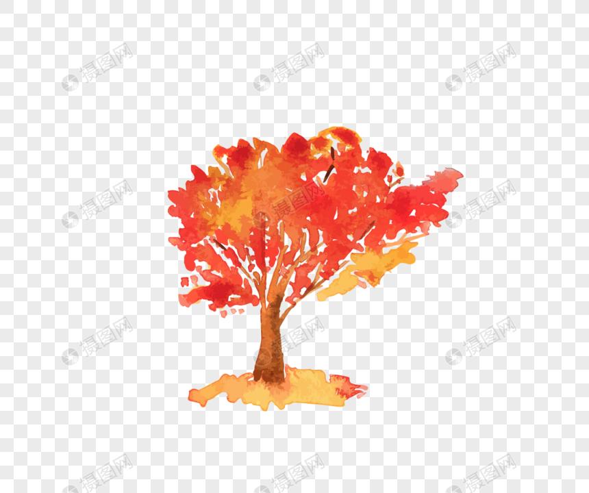 Dibujos Animados Pintados A Mano Verde árbol De Acuarela Materia