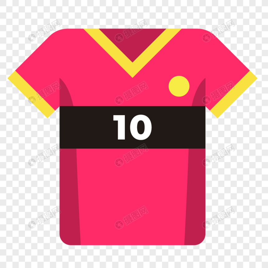 Sports red 10 shirt icon png image_picture free download