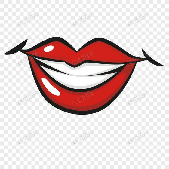 Bahan Gigi Putih Mulut Merah Gambar Unduh Gratis Imej
