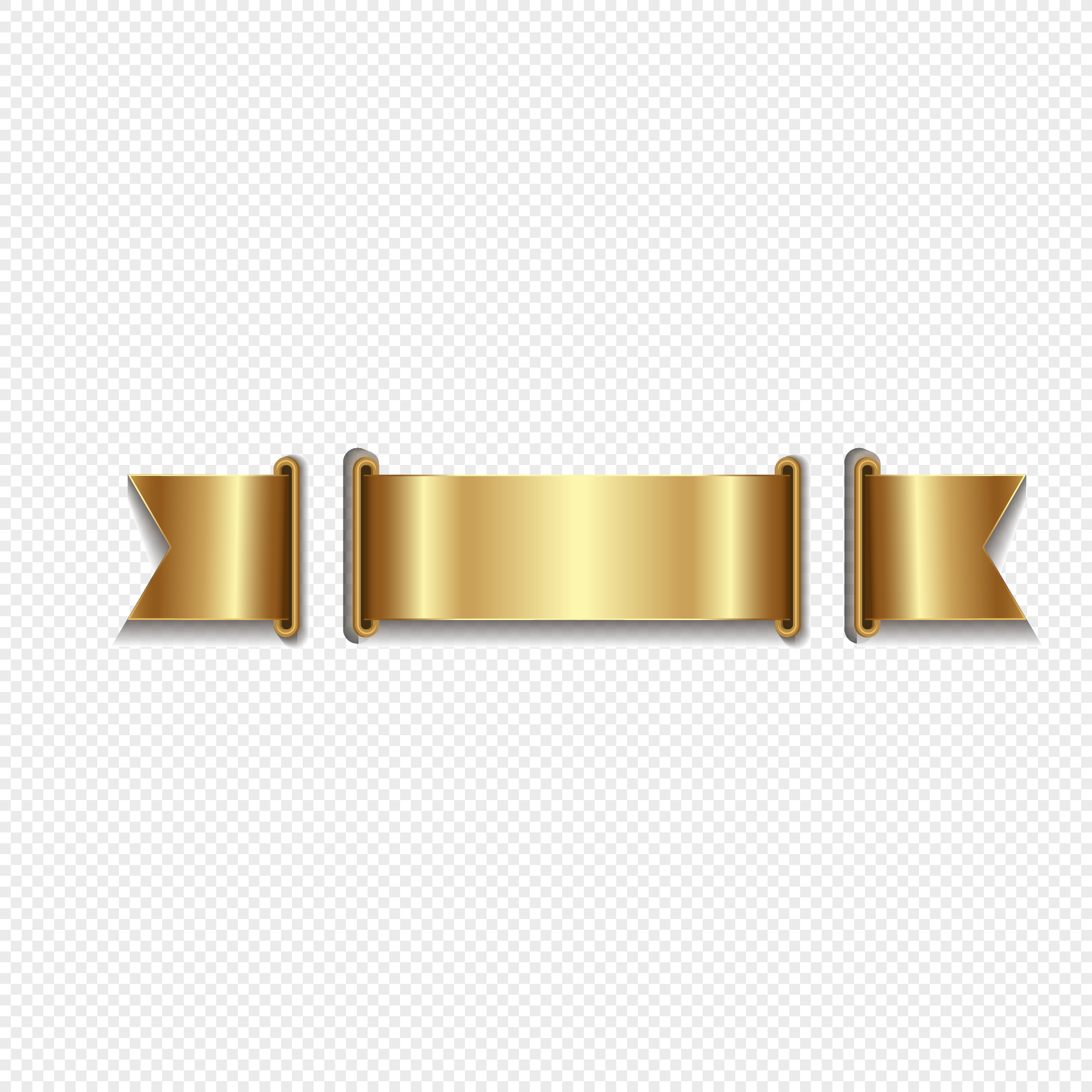 gold ribbon vector design png image picture free download