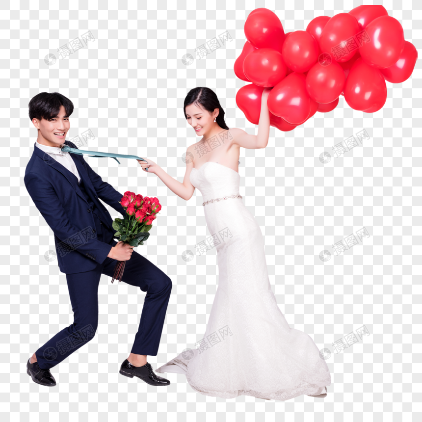 Love Wedding Balloon With Love Balloon Rose Action Png