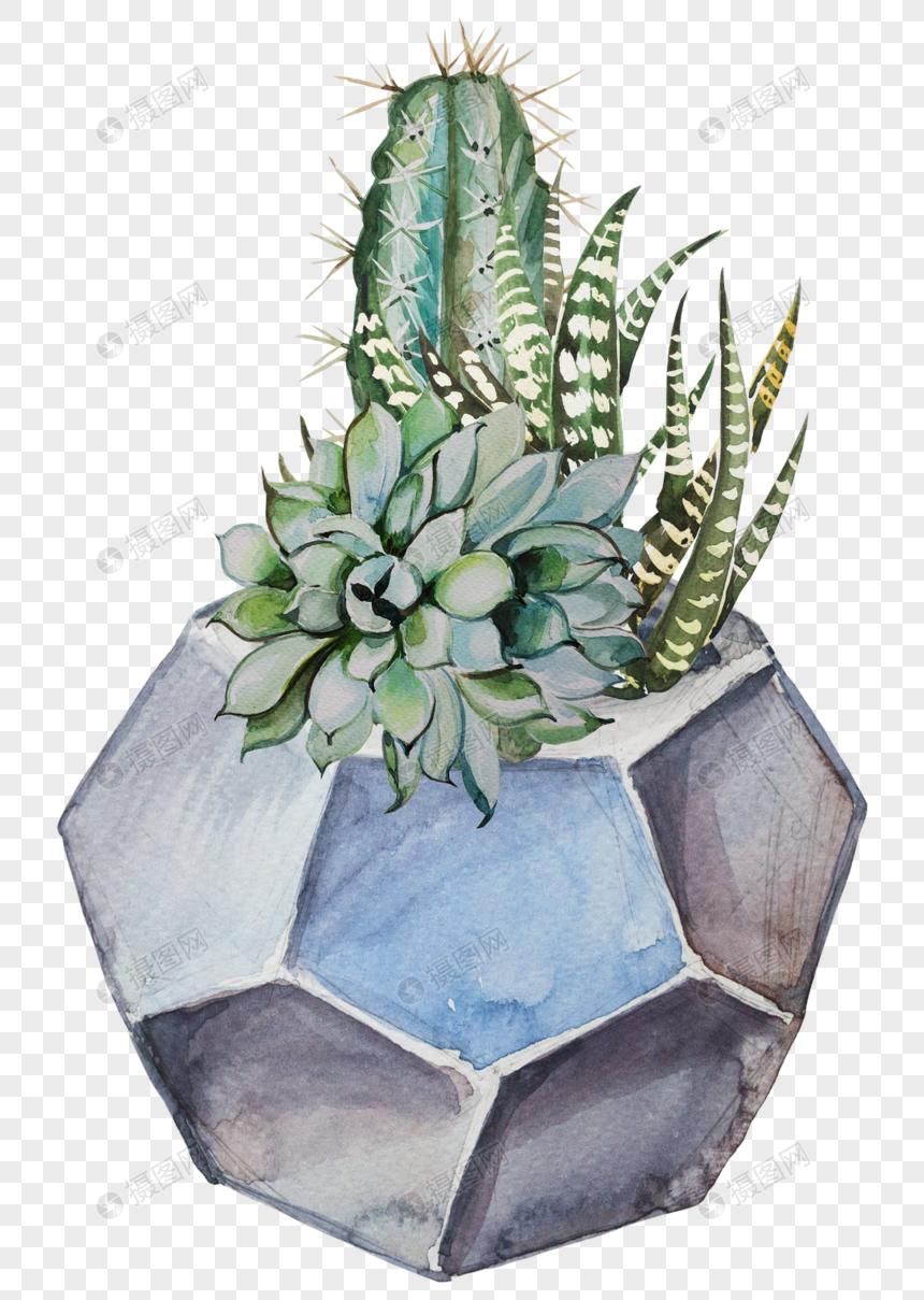 Boyalı Saksı Inek Kafası çiçek Vektör Malzemesi Resimgrafik