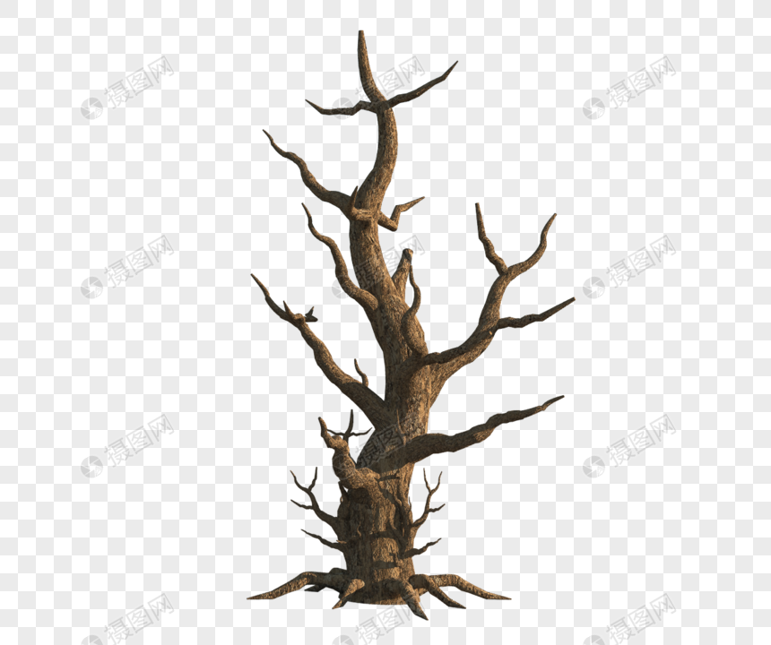 Hd scratch free png withered tree material png image_picture