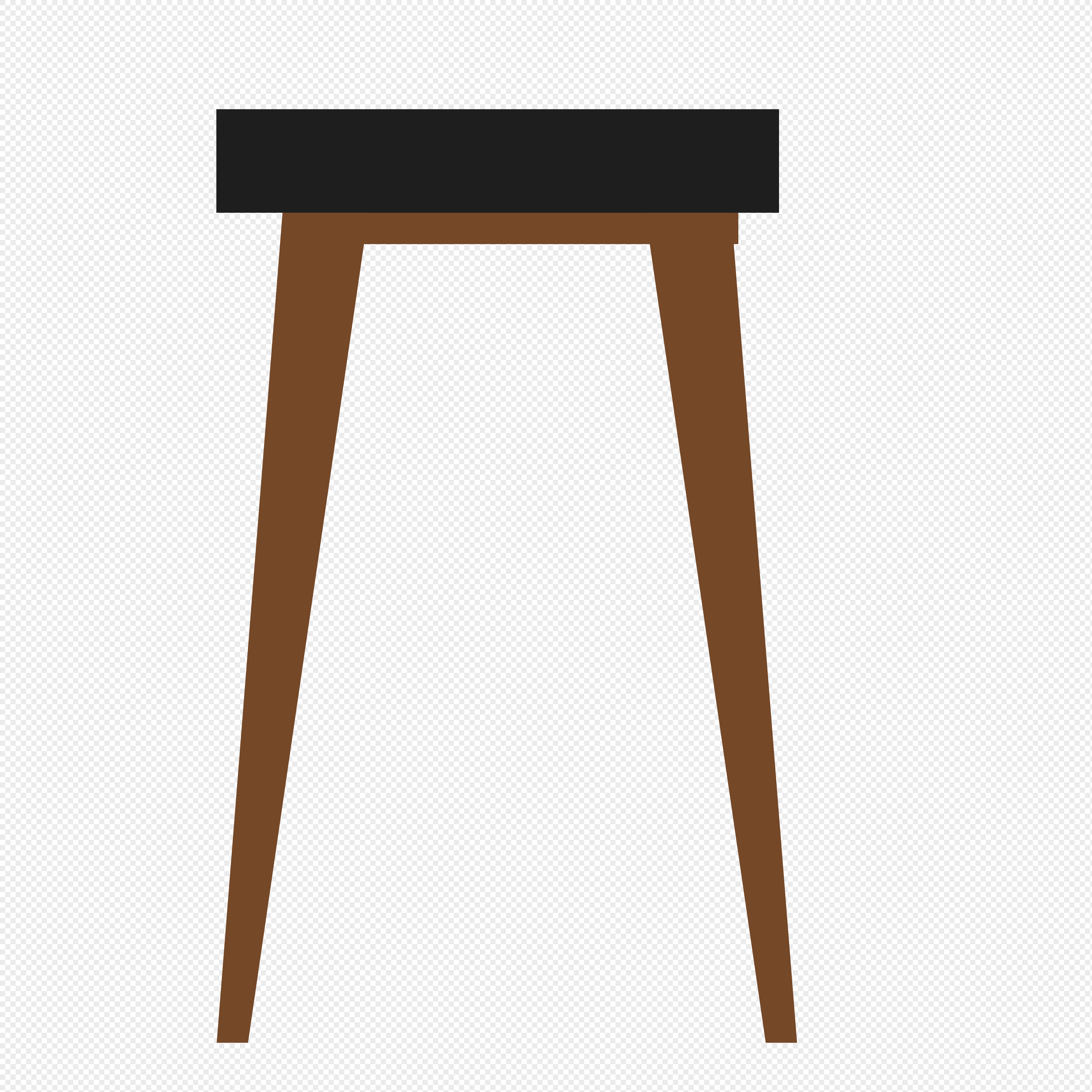 Vector Elements Of Long Leg Stools For Hand Painted Furniture Png