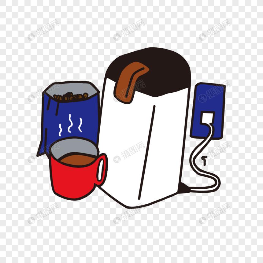 El Cekilmis Kahve Makinesi Modeli Resim Grafik Numarasi