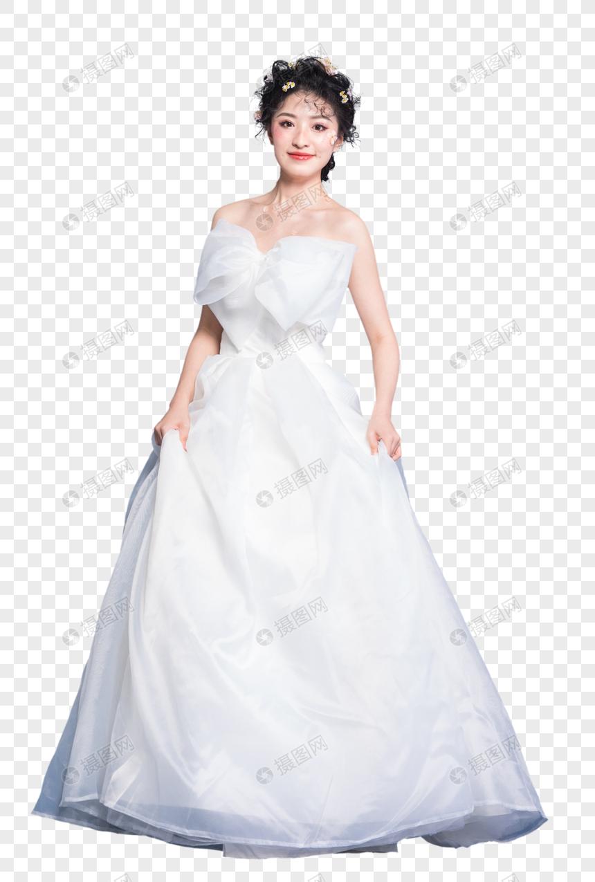 Dulce Niña En Vestido De Novia Blanco Imagen Descargarprf