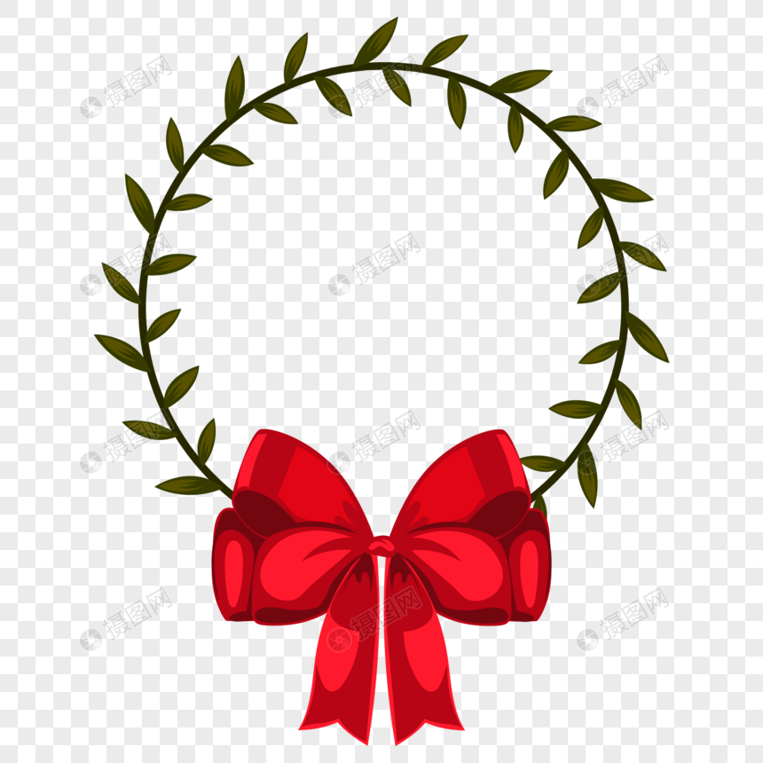 Cartoon Christmas Garland Border Png Image Picture Free Download