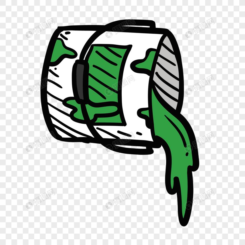 Cartoon Flat Green Paint Bucket Vector Elements Png Imagepicture