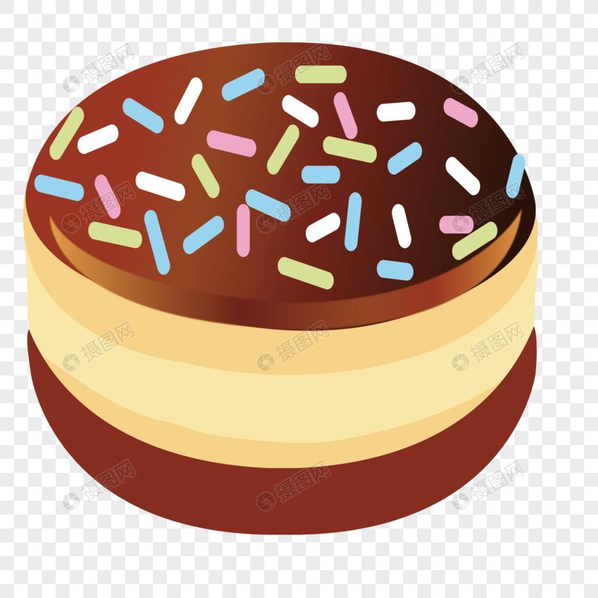 Pastel De Chocolate De Dibujos Animados Imagen Descargarprf