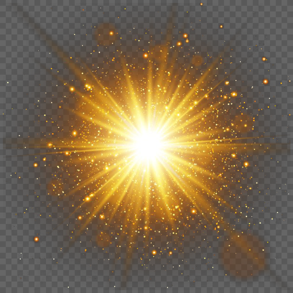 Small Decorative Spotlight: Decorative Gold Spot Light Effect Png Image_picture Free