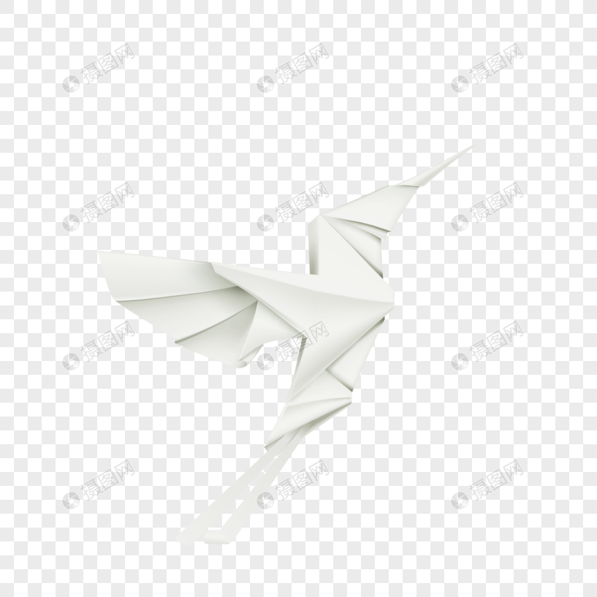 Origami Bird Element Png Imagepicture Free Download