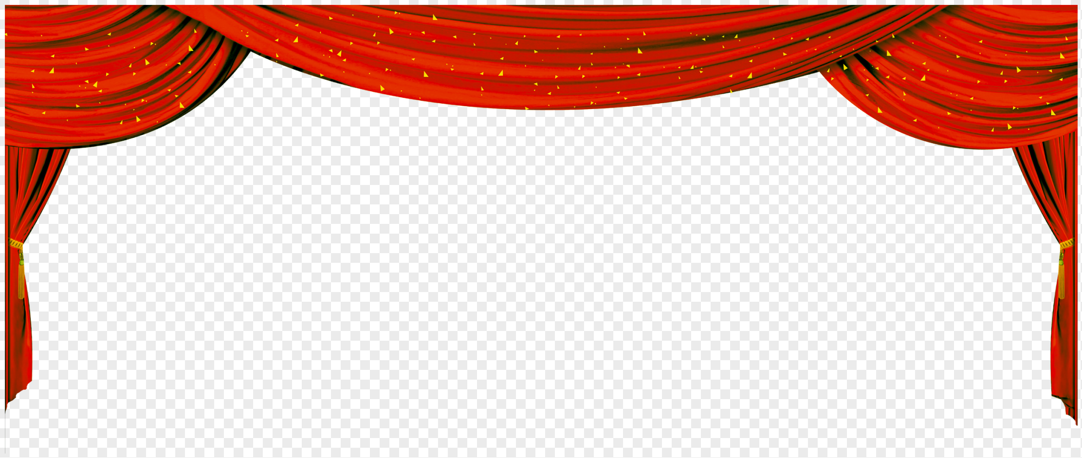 party building poster design red background ribbon