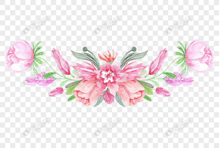 Bahan Bunga Vektor Hiasan Bunga Dicat Gambar Unduh Gratis Imej