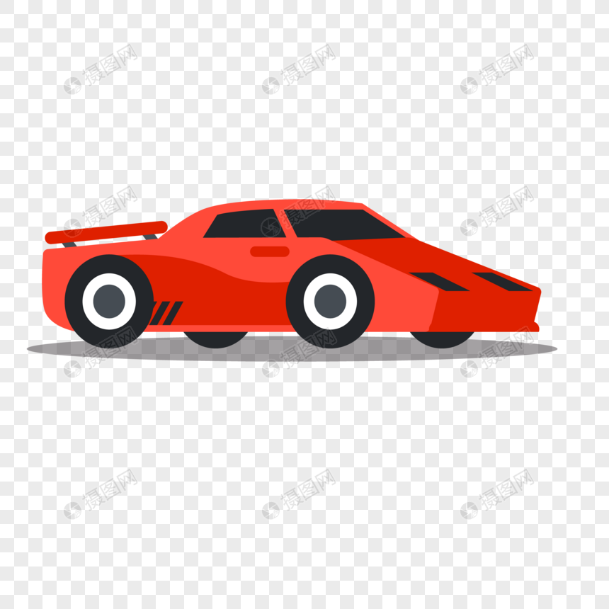 Flat Red Sports Car Vector Material Png Image Picture Free Download