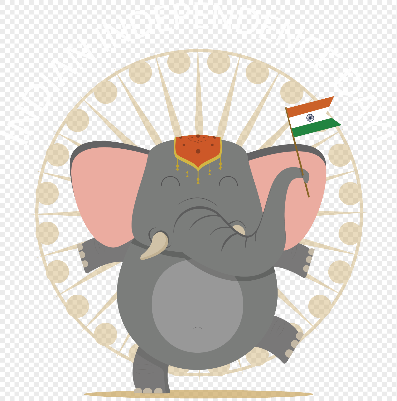 Cartoon india independence day elephant png image_picture free ...