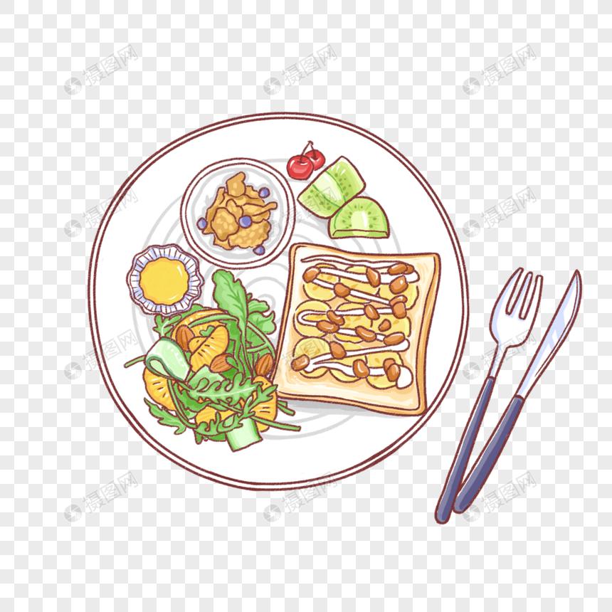 手描きのグルメ栄養西洋料理イラスト素材イメージグラフィックス Id