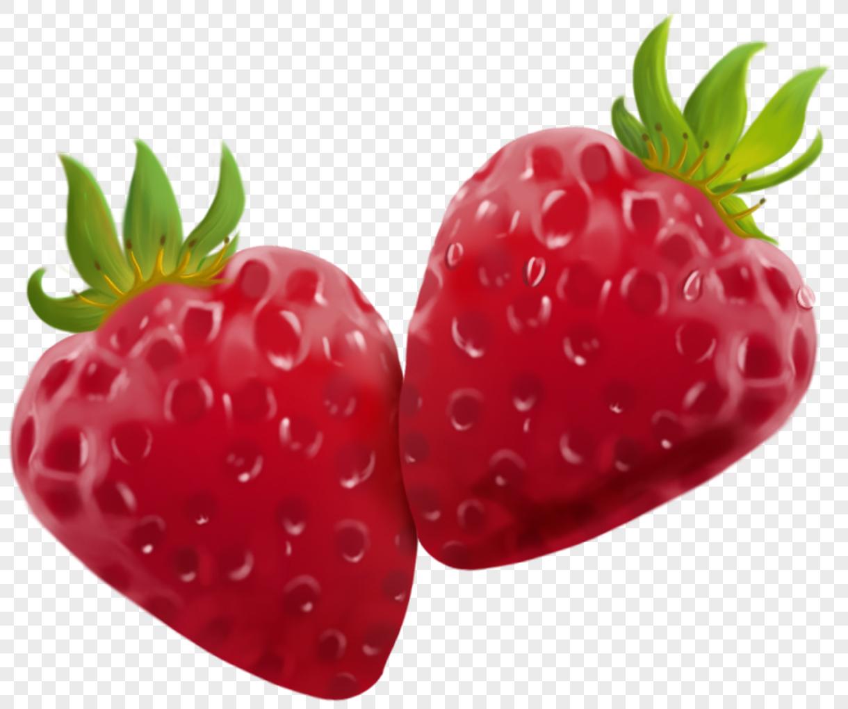 contoh gambar mewarnai buah strawberry