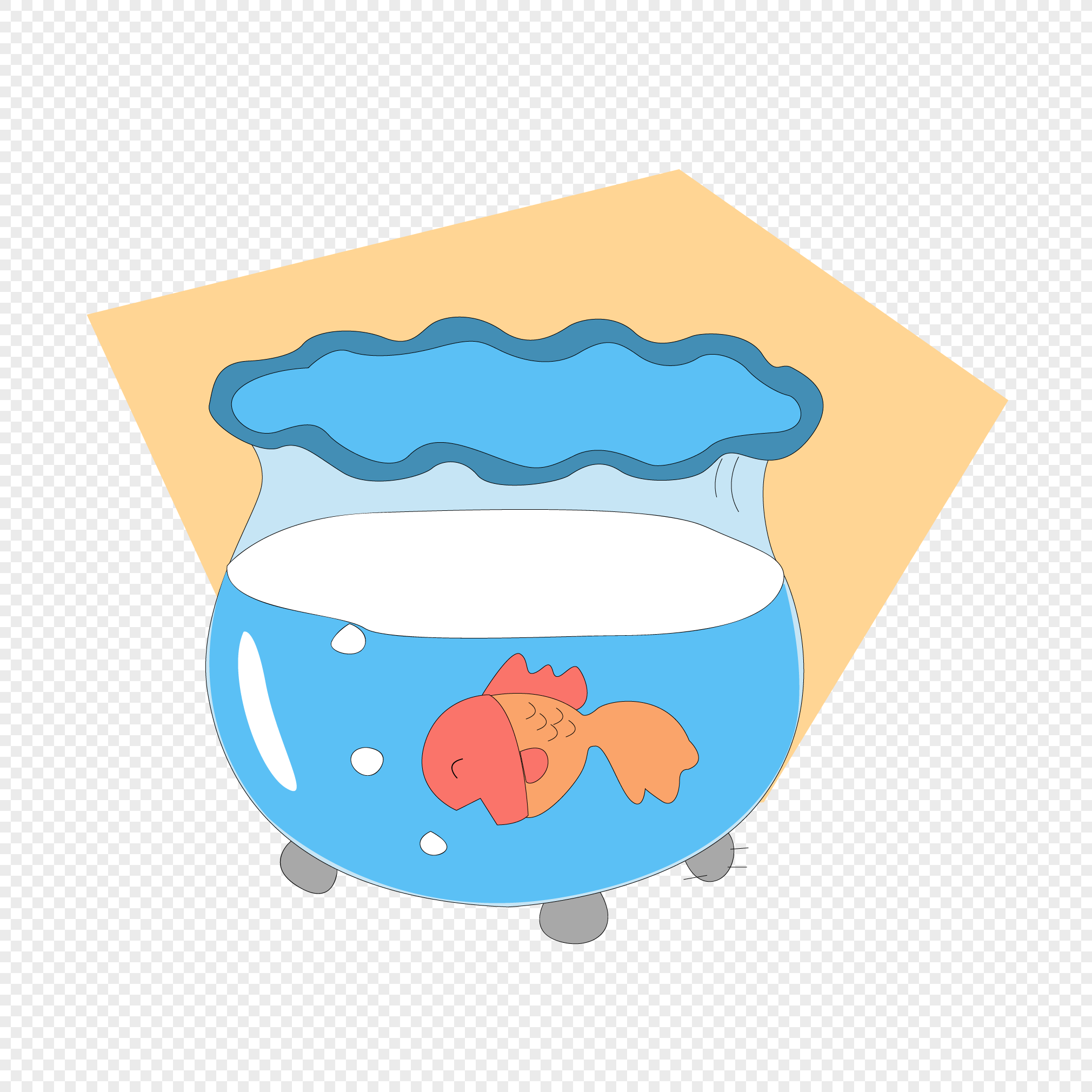 Cartoon Fish Tank Design Material Png Image Picture Free Download