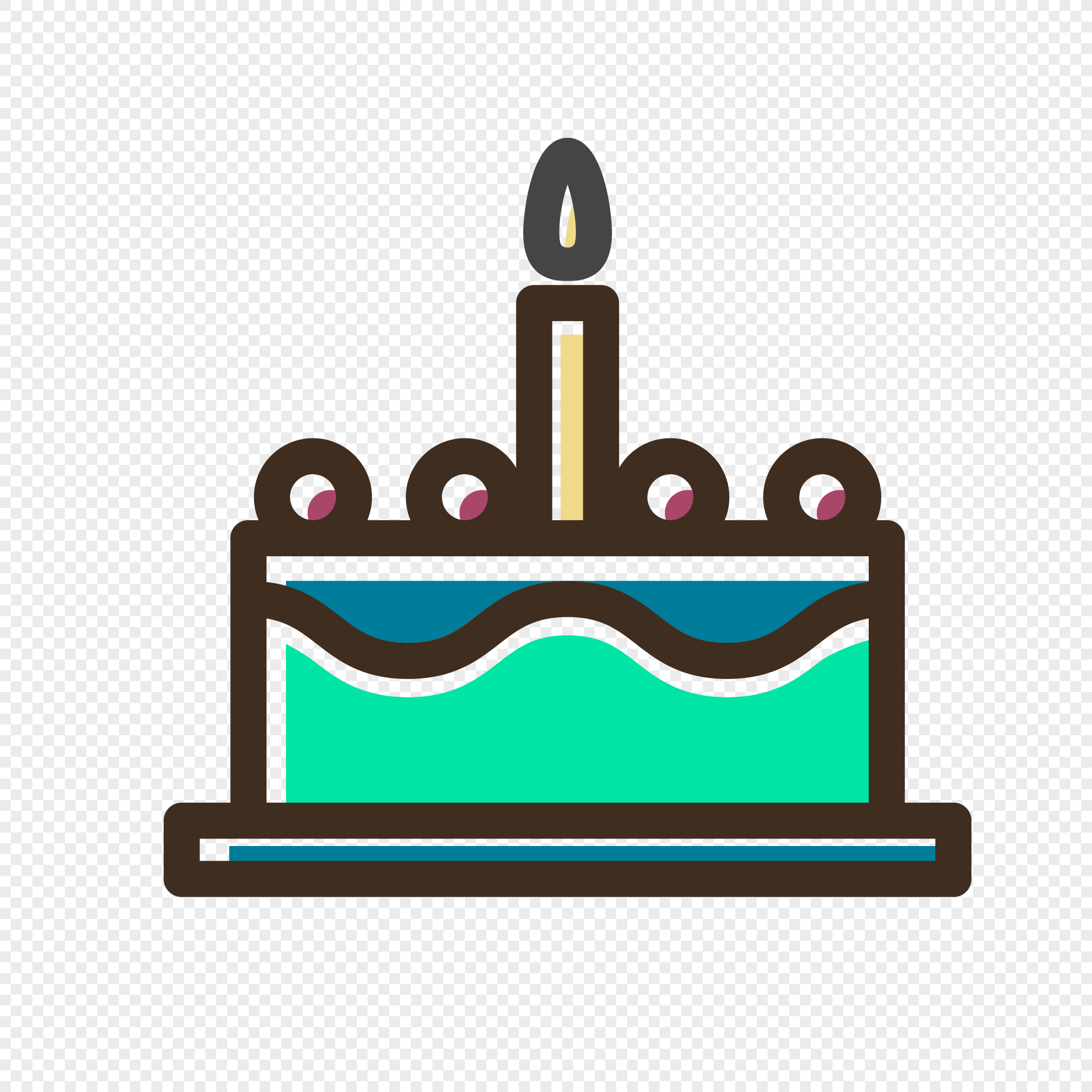 Small Cartoon Birthday Cake Vector Icon Graphics Png Image Picture