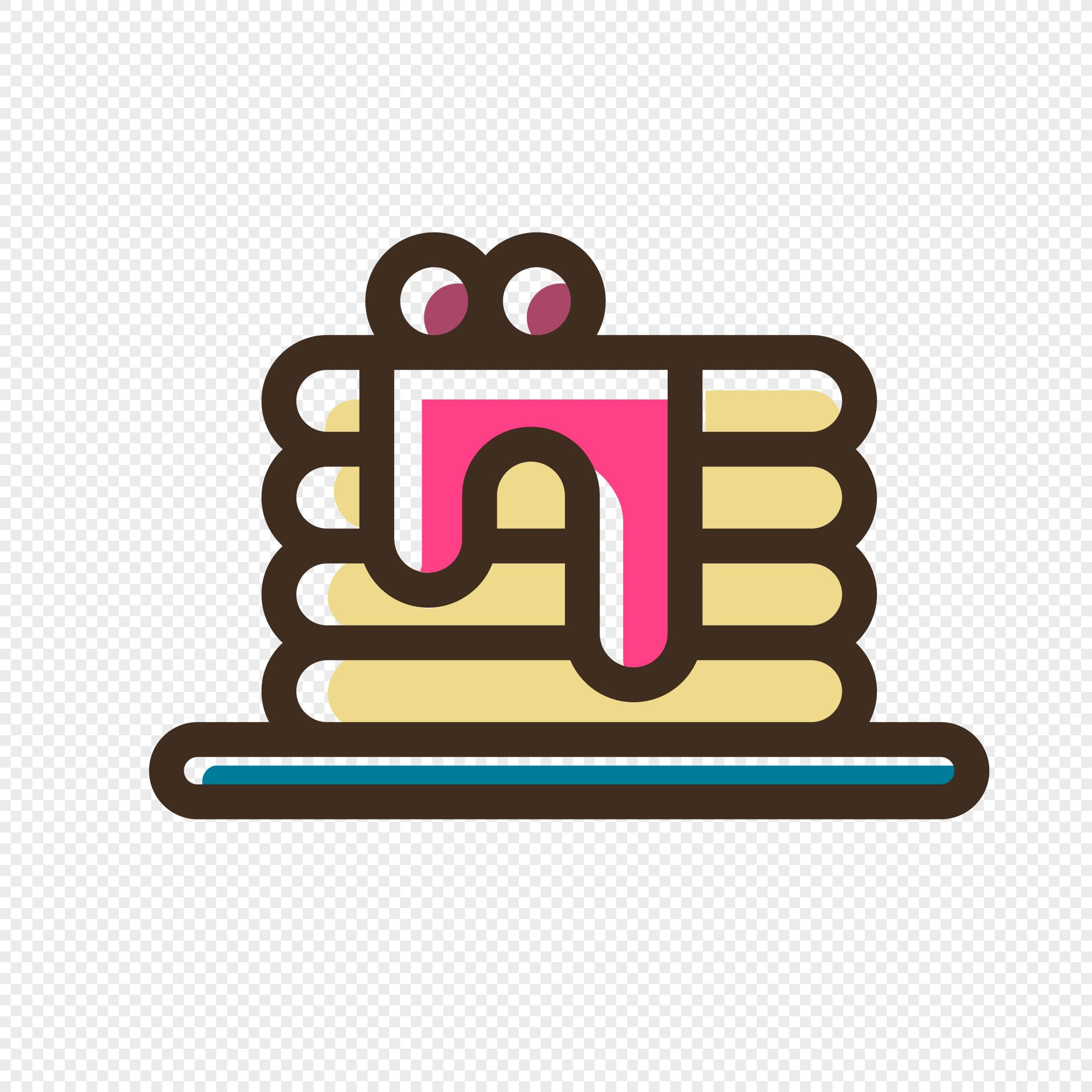Small Cartoon Birthday Cake Design Vector Icon Png Image Picture