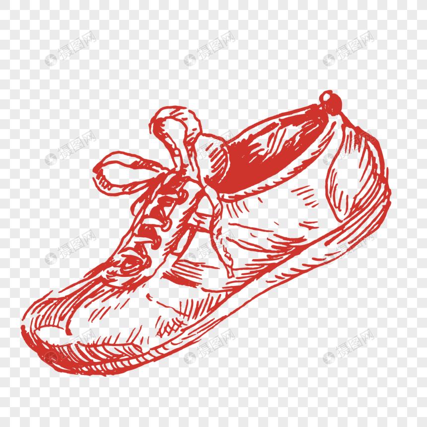 prf De Descargar Zapatillas Imagen Dibujo Línea Roja Deportivas Qdhrts