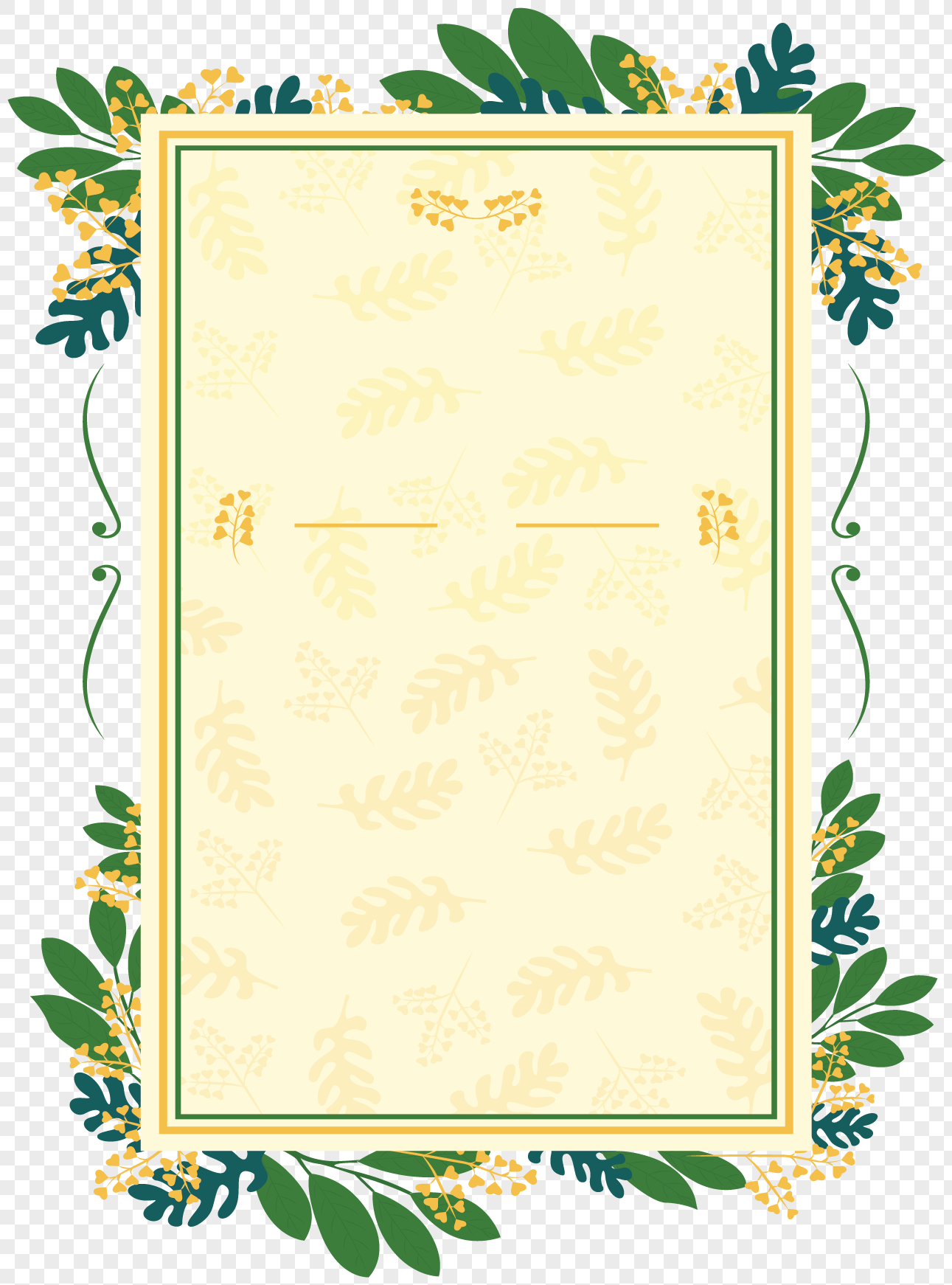 Green Leaf Wedding Invitation Card Png Image Picture Free Download