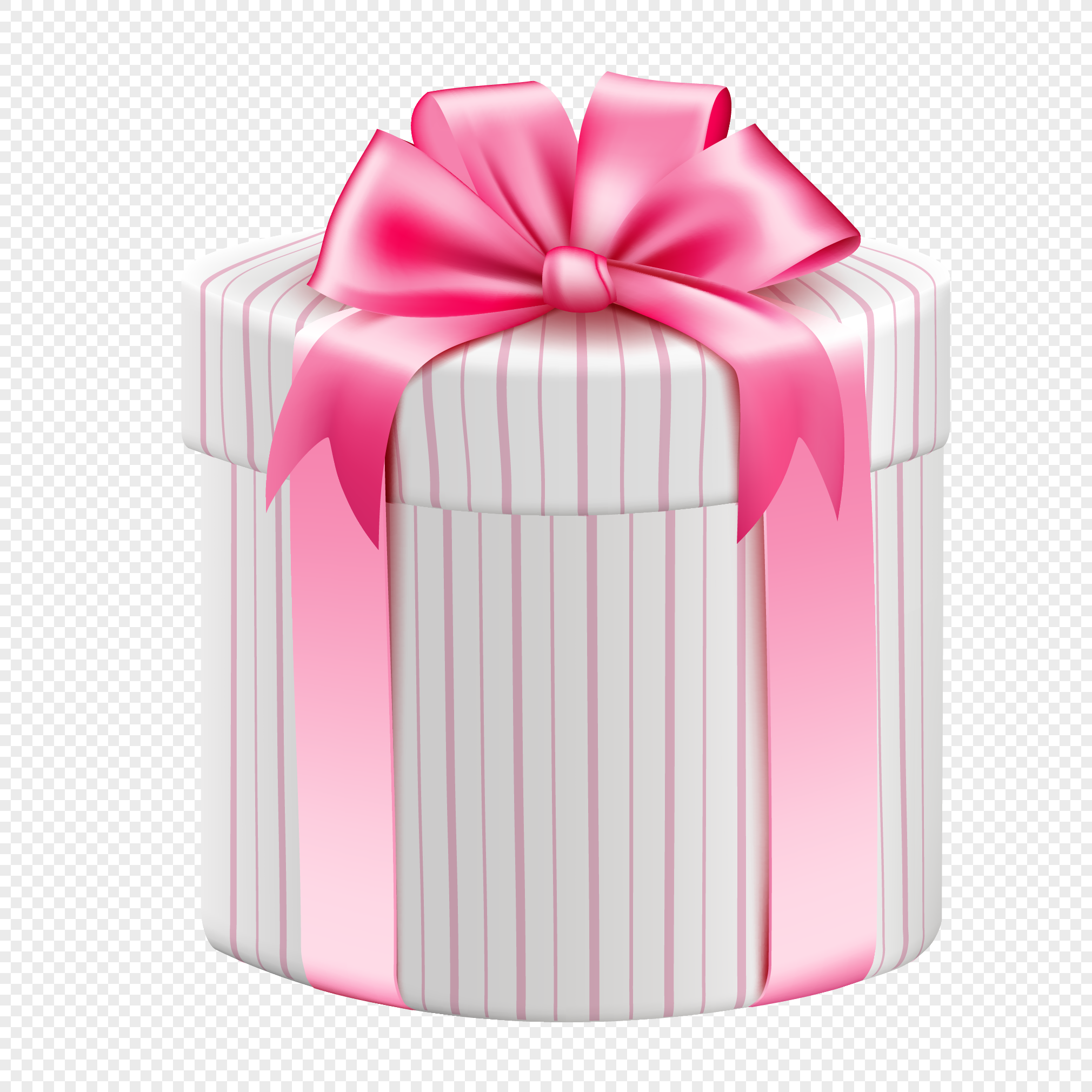 Valentines Day Stripe Gift Box Design Vector Material Png