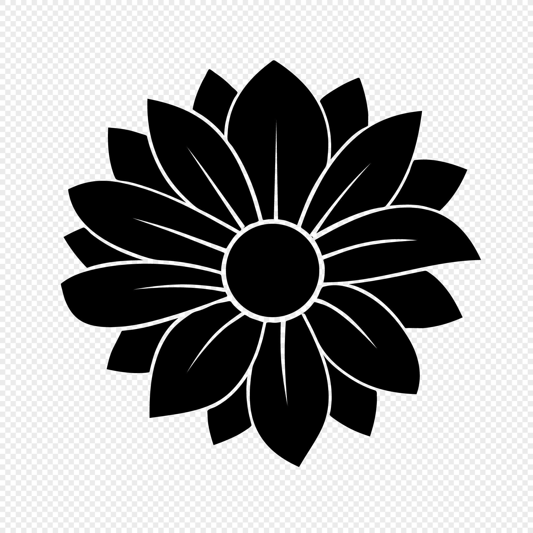 vector elements of flower silhouette png image picture free download