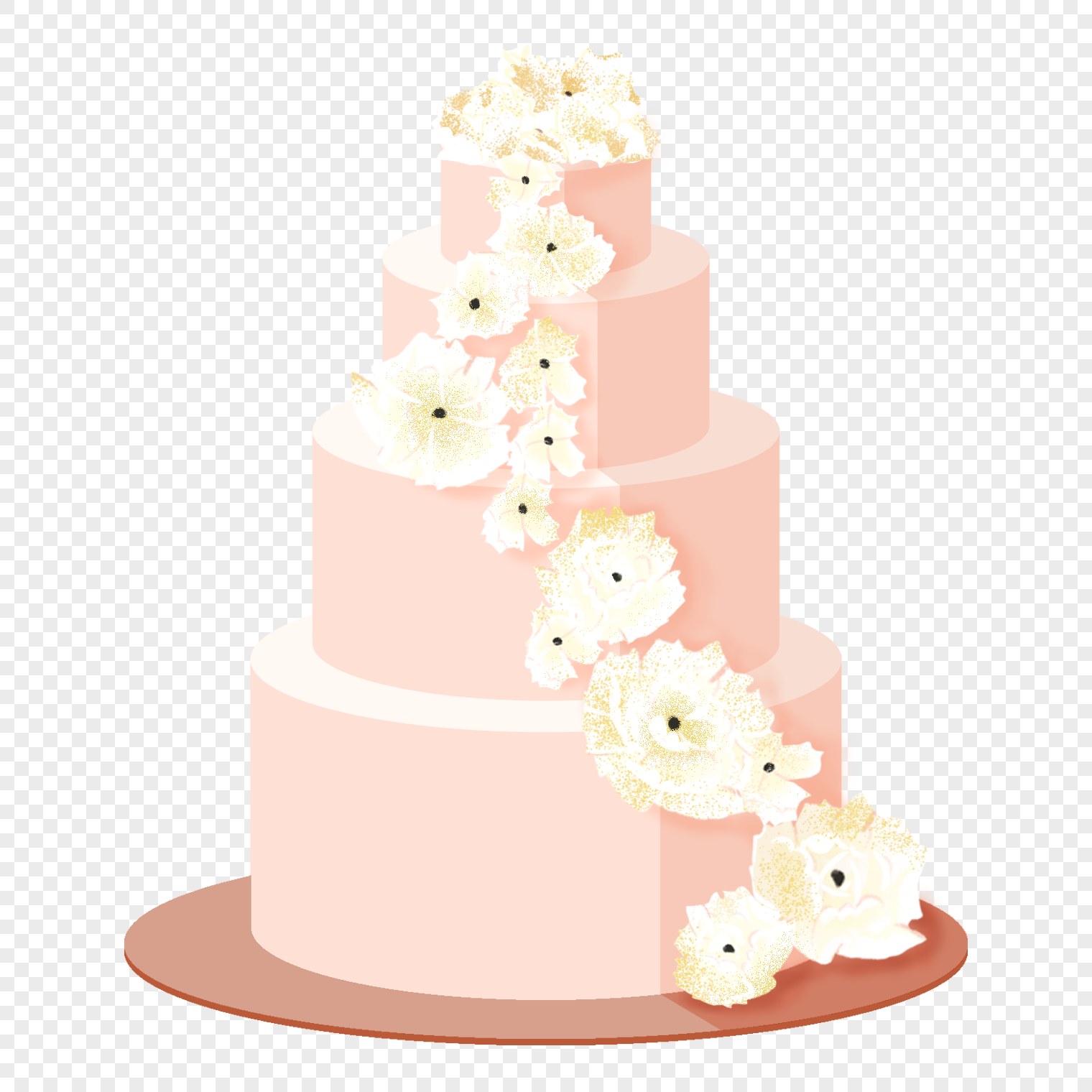 Pink Romantic Wedding Cake Png Image Picture Free Download