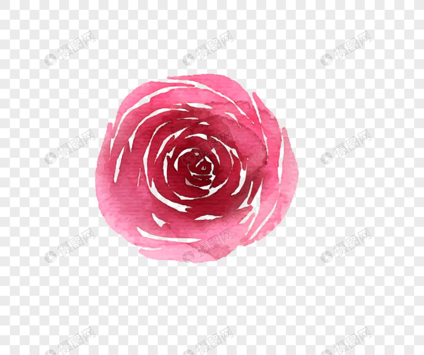 Acuarela Primavera Flores Rojas Vector Material Imagen Descargar Prf