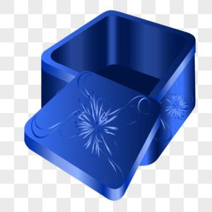 Blue Open Gift Box