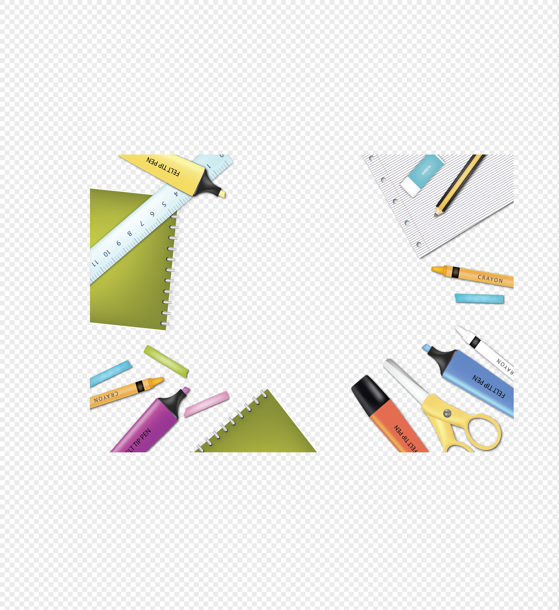 color cartoon stationery border png image picture free download