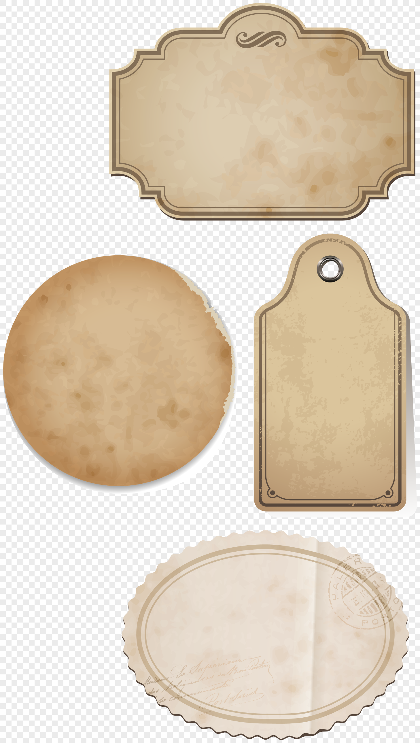 brown kraft paper texture label png image_picture free download